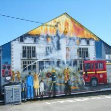 불조심 캠페인 벽화