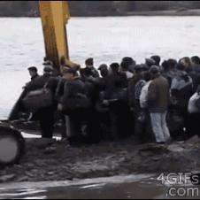 Excavator-river-crossing