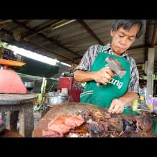 Sledge Hammer BEEF JERKY!! 🔨 Unseen Thai Street Food | Chiang Mai, Thailand!