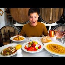 Secret Greek Taverna!! ATHENS CENTRAL MARKET Street Food Tour - Seafood + AMAZING Pork Chops!!