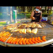 DRAGON BOAT FESTIVAL FOOD IN TAIWAN!! HUGE ABORIGINAL BBQ + ZONGZI (粽子) | Street Food in Tainan!