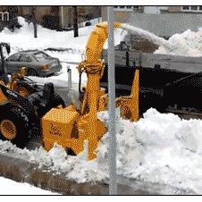 도로 제설작업