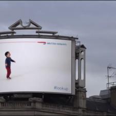 광고판속의 아이