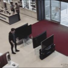 Customer-knocks-over-TVs