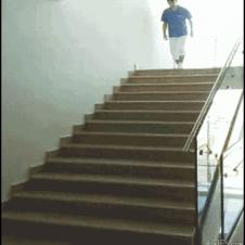Shoes-sliding-stairs