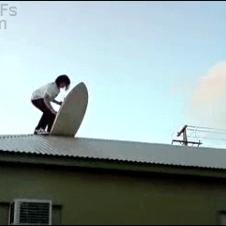 Roof-surfing