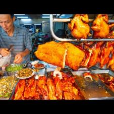 Hong Kong Street Food - CRAZY CANTONESE FOOD Tour in Taipei!! DIM SUM + ROAST MEATS!